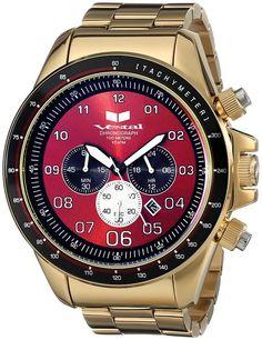 Vestal Men's ZR3028 ZR-3 Analog Display Japanese Quartz Gold Watch