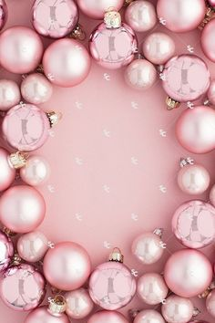 This collection of holiday styled stock images features monochromatic blush pink Christmas tree ornaments and greenery on a pink background. Grab the attention of your audience and drive sales this holiday season styled stock images! Wallpaper Natal, Pink Wallpaper, Pink Ornaments Wallpaper, Red Colour Wallpaper, Fashion Wallpaper, Tree Wallpaper, Wallpaper Ideas, Pink Und Gold, Blush Pink