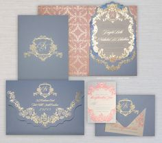Something Blush, Something Blue: A Pantone-Inspired Wedding Palette - The Invitations  - from InStyle.com