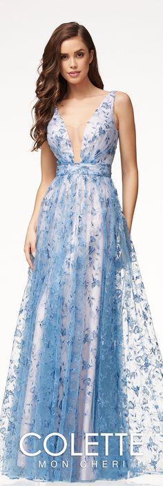 c11b366edb8a Floral Boho Chic A-line Prom Dress - Colette for Mon Cheri - CL18250