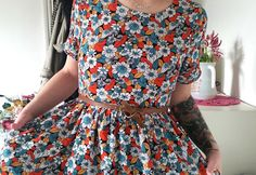 Im Being Erica wearing our Louche Halsey Floral Dress http://www.imbeingerica.com/2016/03/style-90s-called.html