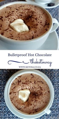 Bulletproof hot chocolate. Ketogenic recipes
