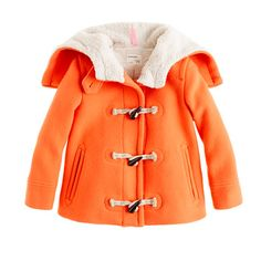 Girls' stadium-cloth toggle coat