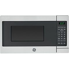 "Small countertop microwave - should fit our plates and is less than 13"" deep. jcp 