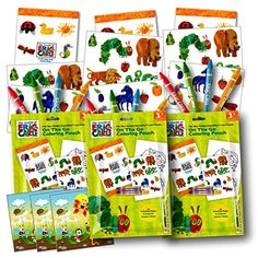 World of Eric Carle Coloring Pack Party Favors with Stickers, Crayons and Coloring Activity Book in a Resealable Pouch ~ Plus Separately Licensed 3X3 Inch Reward Prize Stickers Included - http://partysuppliesanddecorations.com/world-of-eric-carle-coloring-pack-party-favors-with-stickers-crayons-and-coloring-activity-book-in-a-resealable-pouch-plus-separately-licensed-3x3-inch-reward-prize-stickers-included.html