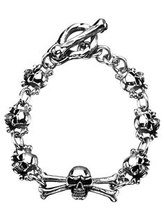 "Women's ""Skulls"" Bracelet by Inox Jewelry (Stainless Steel)"