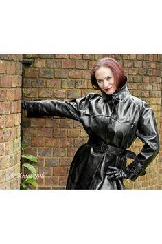 Imperméable lackmantel Raincoat Mac IMPERMEABLE NOIR 100/% PVC Divers Tailles