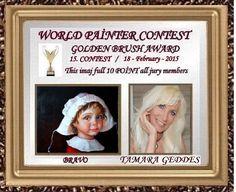 WORLD PAINTER CONTEST - WINNERS OF 15.CONTEST BY JURY -DÜNYA RESSAM YARIŞMASI 15. YARIŞMA SONUÇLARI (FULL 10 POINTS PİCTURES)