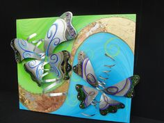 "$650.00    20"" x 24""     handcrafted from recycled sheet metal on canvas & mixed media"