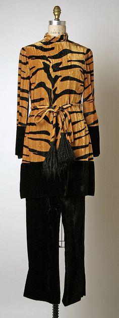 Evening pajamas Bill Blass 1970