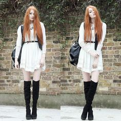 Leather Waistcoat & Slouchy Boots.
