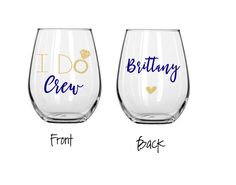 I do crew wine glass, will you be my bridesmaid glass, bridal party wine glass…