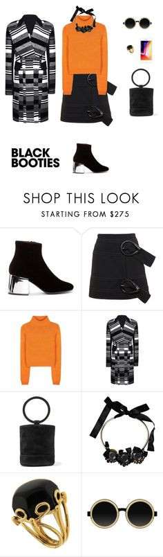 """""""Back to basics: Black booties"""" by sebolita ❤ liked on Polyvore featuring MM6 Maison Margiela, J.W. Anderson, Acne Studios, Roland Mouret, Simon Miller, Marni, Valentin Magro and Moscot"""