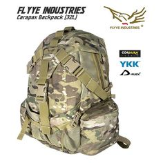 Flyye Carapax Backpack is available now at Military1st.co.uk.  Flyye Carapax is a compact everyday carry pack, made of robust Invista Cordura nylon, with 32L capacity & multiple compartments to securely keep your laptop, books, maps & other items.