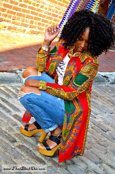 """That Black Chic: Two Shirt Dresses, Two Bloggers for """"The Monthly Stitch"""" Two year Anniversary"""