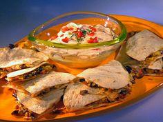 Roasted Corn Quesadillas  Guy Fieri  Food Network  Recipe courtesy Guy Fieri