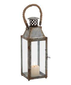 Loving this Tall Antiqued Tin Lantern on #zulily! #zulilyfinds