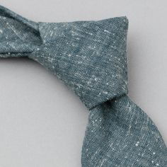 Square-End Tie, Extra Neppy Indigo Chambray