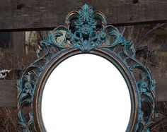 Large Oval Wall Mirror Copper Gold Vintage Turner Fashion
