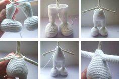 Free pretty bunny amigurumi crochet pattern