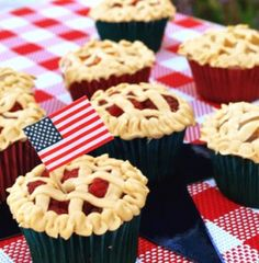 american pie cupcakes.  Perfect for Memorial Day, 4th of July, etc.