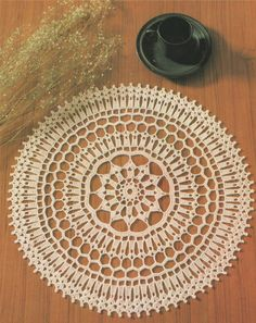 PDF Doily Crochet Pattern : Table Mat . Place Mat . Table Centre . Mandala . Round Doiley . Circular . Doillies . Instant Digital Download by PDFKnittingCrochet on Etsy