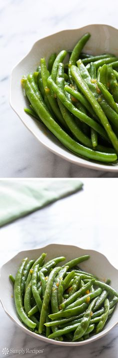 5-ingredient Spicy Orange Glazed Green Beans with sriracha and orange marmalade on SimplyRecipes.com EASY!
