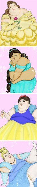 Fat Disney princesses!