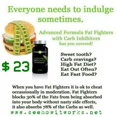 Fat Fighter contains NeOpuntia, the most powerful fat binding ingredient on the market today. NeOpuntia is derived from a vegetable known as the prickly pear cactus fiber. In addition, Fat Fighter contains a white kidney bean extract that acts as a carb inhibitor and also aids in weight loss. The natural ingredients make Fat Fighter safe for daily consumption, and this product is also gluten free.  $23 as a loyal customer!!! www.seehowitworks.net #fatblocker #fatfighters #sweettooth…
