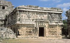 "The Casa de las Monjas (""Nunnery""), one of the earliest structures built at Chichén Itzá, Yucatán, Mexico."