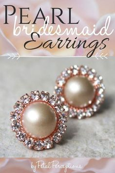 Champagne and Rose Gold Earrings, Champagne Wedding Jewelry, Champagne Bridesmaid Earrings, Rose Gold Bridesmaid Jewelry, Bridesmaid Gifts Rose Gold Bridesmaid, Bridesmaid Earrings, Bridesmaid Gifts, Bridesmaids, Rose Gold Earrings, Pearl Earrings, Bridal Shower Corsages, Earrings Handmade, Handmade Jewelry