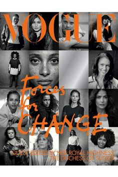 Meghan Markle guest edits British Vogue September issue, with cover shot by Peter Lindbergh Peter Lindbergh, Vogue Uk, Vogue Russia, Teen Vogue, Vogue Paris, Michelle Obama, Meghan Markle, Gemma Chan, Jane Goodall