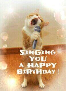 Singing you a happy birthday.