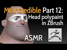 In this video, I will paint Mr. Incredible's head using ZBrush polypaint feature. I hope you will enjoy and feel relaxed. Youtube Model, Zbrush Hair, Youtube Share, Animation Tutorial, Hair Creations, Character Creation, Asmr, The Incredibles, Face