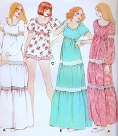 McCall's 5333 Misses Dress or Nightgown and Panties Sewing Pattern Petite Size 6-9, Vintage 1978 McCall's http://www.amazon.com/dp/B013NVICJS/ref=cm_sw_r_pi_dp_BG5Xvb0TN2FD5