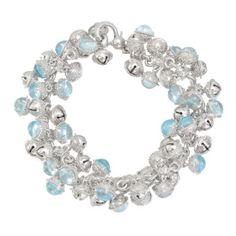 Paul Morelli Silver Bell Bracelet with Blue Topaz