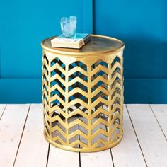 Chevron Side Table - Side Tables - Tables - Furniture