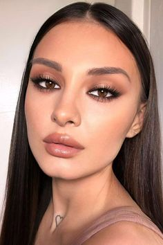 Smoke Eye Makeup, Dark Eye Makeup, Eye Makeup Art, Nude Makeup, Natural Eye Makeup, Skin Makeup, Eyeshadow Makeup, Dark Eyeshadow, Natural Smoky Eye