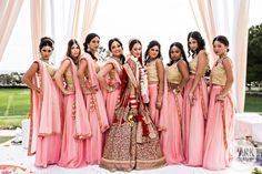 Indian Wedding guest fashion is a question that we answer for Indians and non-Indians alike. What to expect at an Indian wedding is lots of music, food and dancing. Indian Wedding Bridesmaids, Indian Wedding Poses, Indian Bridesmaid Dresses, Big Fat Indian Wedding, Bridesmaid Outfit, Indian Wedding Photography, Desi Wedding, Indian Wedding Outfits, Bridal Dresses