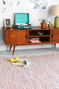 Plum & Bow Spacedye Diamond Woven Rug - Urban Outfitters
