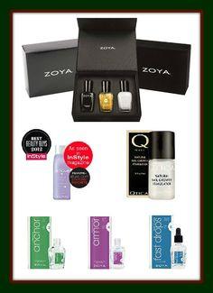 Midnight Manicures: Zoya Gilty Pleasures LE Gift Box plus 5 Zoya Nail Treatments Giveaway!