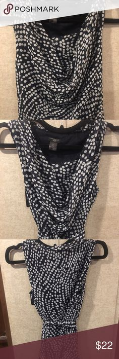 Petite Ann Taylor Navy Blouse Light and breezy top with no signs of wear.   ✔️Top-Rated Seller ✔️Fast Shipper ✔️Posh Mentor  Like the item but not the price? Make an offer with the Offer Button! 👇🏼 Bundle and save 💵💵  🚫Trades 🚫Transactions off Poshmark Ann Taylor Tops Blouses