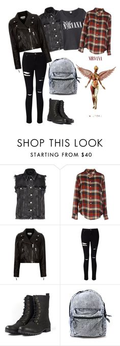 """Nirvana"" by kaplansvoice on Polyvore featuring River Island, Band of Outsiders, Étoile Isabel Marant, Miss Selfridge, rockerchic and rockerstyle"