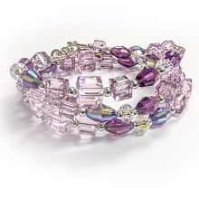 Pink For The Cure Convertible Swarovski Bracelet / Necklace Kit (with Free Matching Earring Kit)