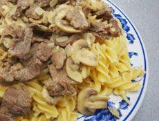 Beef Stroganoff   Aroma Rice Cooker recipe