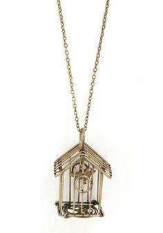 Wondrous Warbler Necklace 29.99, #ModCloth