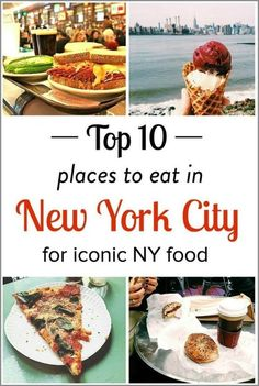 10 best places to eat in NYC for bagels pizza burgers brunch high tea ice cream and more! - Travel New York - Ideas of Travel New York Restaurants In Nyc, Ny Food, New York Food, Best Food Nyc, Food In Nyc, New York Eats, New York City Vacation, New York City Travel, Usa Roadtrip