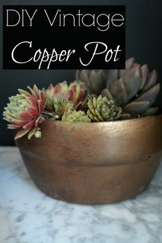 DIY Vintage Copper Pot  with ORB/COPPER/Brass SPRAY PAINT....with logo