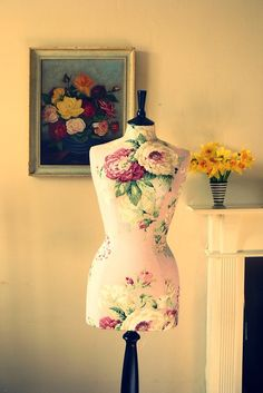 Laura Ashley Roses Tailored Mannequin Dressform - Cecilia. £190.00, via Etsy.
