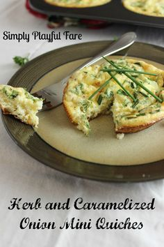 Crustless Quiche with Cottage Cheese and Herbs